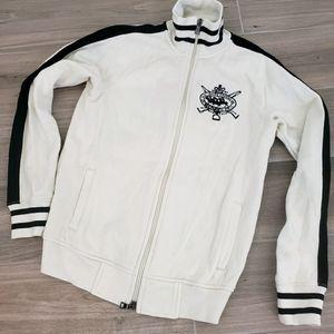 Ralph Lauren Sport sweater jacket off white sz S
